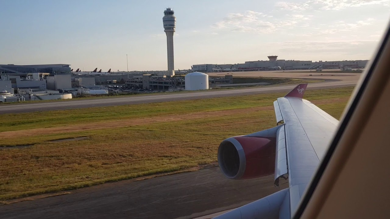 Virgin Atlantic : Take Off : 747-400 : Atlanta