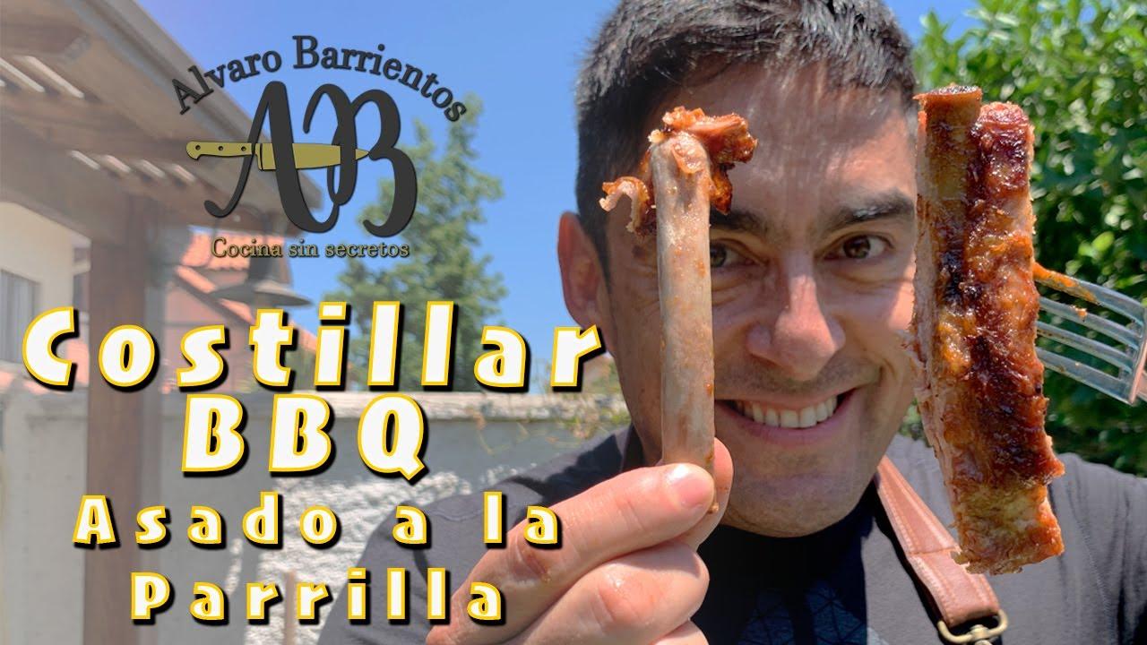 Costillar de Cerdo asado a la parrilla con salsa BBQ. Insuperable !!!