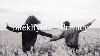 Baekhyun – Privacy [Lyrics and Indo Sub]