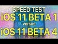 Speed test : iOS 11 Beta 1 vs iOS 11 Beta 4? How much progress has Apple made in 3 releases.