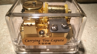 Very neat music box that plays the Carrying You sound track melody ...