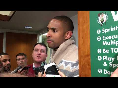 Al Horford reacts to Celtics win over Warriors