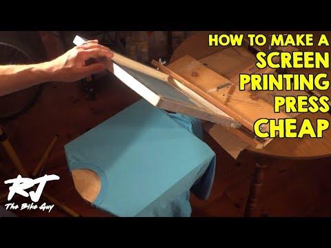 How To Build A Cheap T Shirt Screen Printing Press