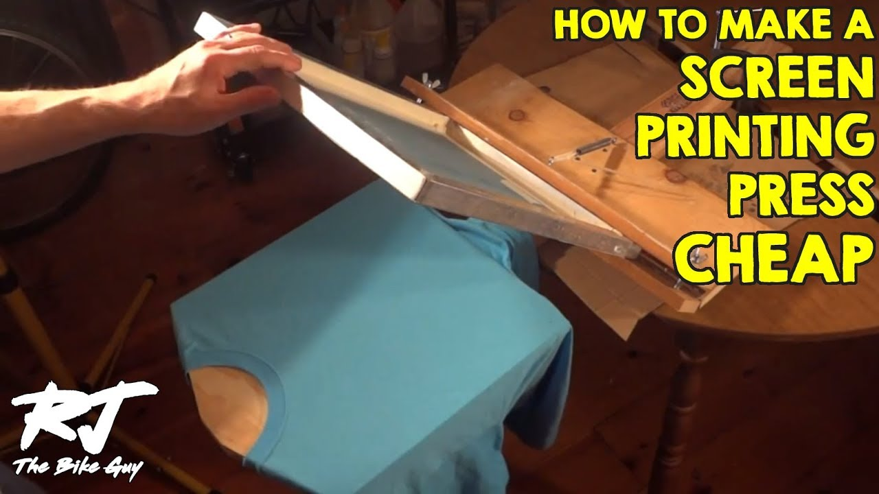 how to build a cheap t shirt screen printing press youtube - How To Design T Shirts At Home