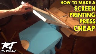 How To Build A Cheap T Shirt Screen Printing Press(Make a screen printing press to print t shirts for almost nothing. I built this one out of scrap wood and a few things from the hardware store. I do screen printing as ..., 2013-10-22T15:10:03.000Z)