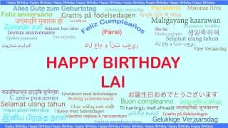 Lai   Languages Idiomas - Happy Birthday