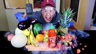Science Experiment LIQUID NITROGEN vs SRIRACHA *INSANE EXPLOSION*