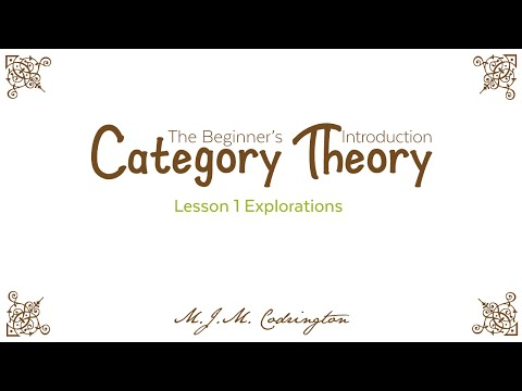 Category Theory: The Beginner's Introduction (Lesson 1 Explorations)