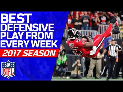 Best Defensive Play from Every Week | 2017 NFL Highlights