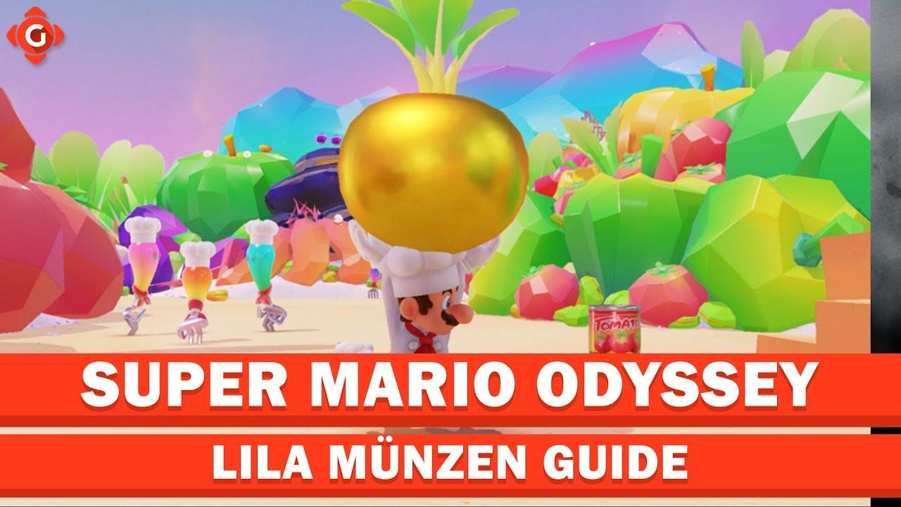 Super Mario Odyssey Alle Sammelobjekte Lila Münzen Schlemmerland