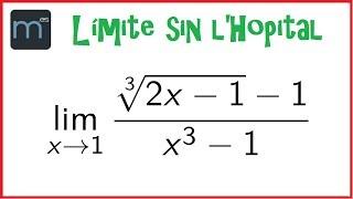 Límite de una función sin usar l'Hopital, límites de funciones