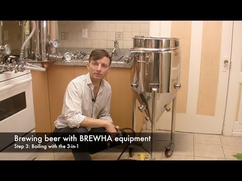 How To Brew Beer With BREWHA Equipment Step 3: Boiling In The 3-in-1