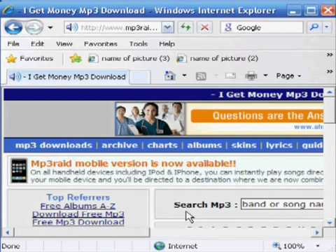 Download Any Mp3 Songs For  Free  To Your Pc