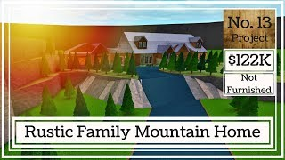 Roblox | Bloxburg: Rustic Family Mountain Home (Speed Build)
