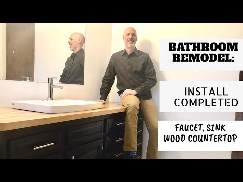 bathroom-remodel:-finishing-the-install-(wood-countertop,-faucet,-vanity)