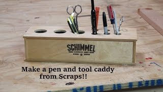 Build A Simple Desk Pen And Tool Holder From Scraps.   Diy Desk Caddy