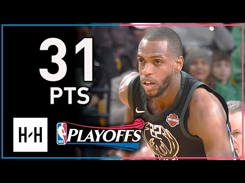 Khris Middleton Full Game 1 Highlights Bucks vs Celtics 2018 Playoffs - 31 Pts, 8 Reb, 6 Ast