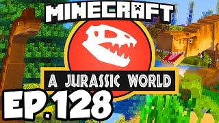 Jurassic World: Minecraft Modded Survival Ep.128 - RELEASING DINOSAURS! (Dinosaurs Modpack)
