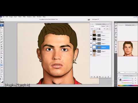 Vector Art dengan Photoshop cs - Model CR7