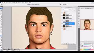 vector art/vexel art -  Ronaldo cr7 (timelapse)