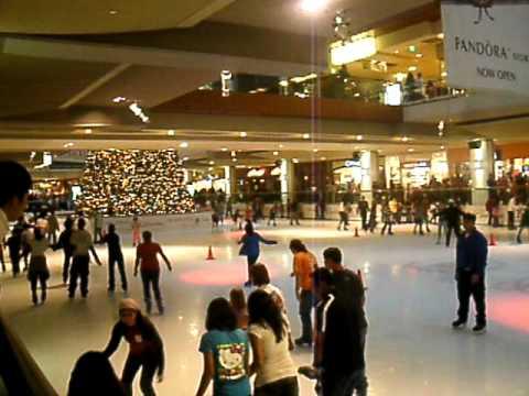 Ice Skating in  Houston Galleria Mall