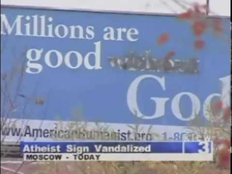 Atheist Billboard - Moscow, ID - American Humanist Association (AHA) - Local news