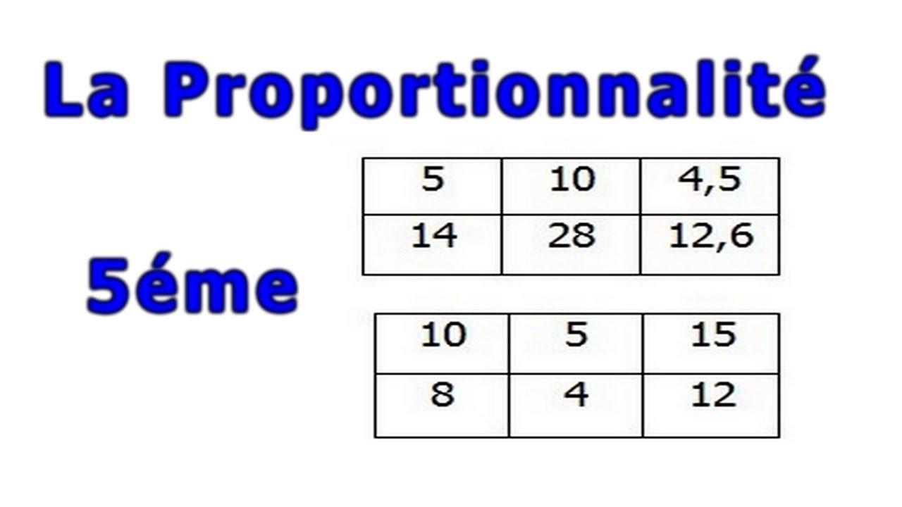 Maths 5eme La Proportionnalite Exercice 18 Youtube