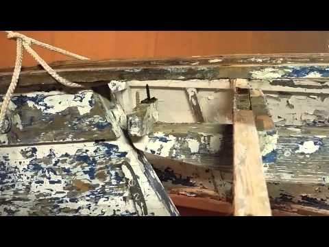1960s 13.6 ft wooden blue jay sailboat keel removal