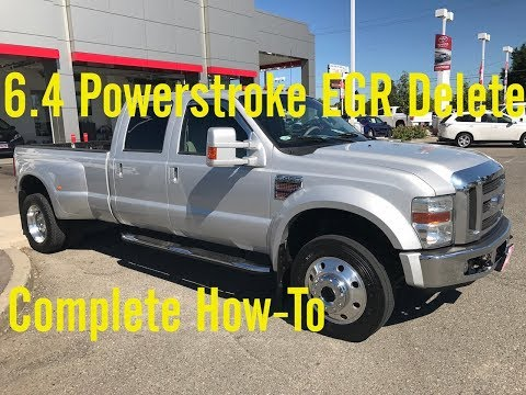 6.4 Powerstroke EGR Delete Complete Step-By-Step Install