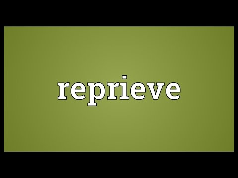 Reprieve Meaning