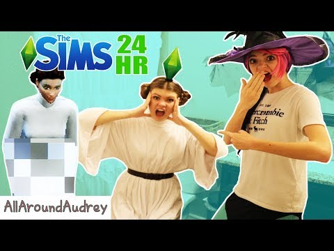 24 Hour SIMS IN REAL LIFE CHALLENGE / AllAroundAudrey