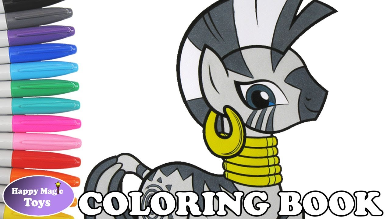 Zecora Coloring Book Page MLP My Little Pony For Kids Art