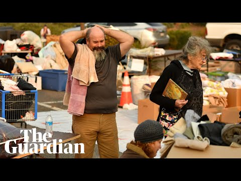 The California wildfire victims living in a parking lot: 鈥業 just want to break down鈥�