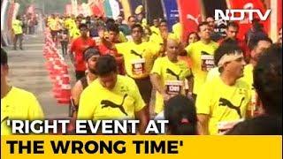 Pollution No Bar. Around 35,000 Run The Delhi Half Marathon