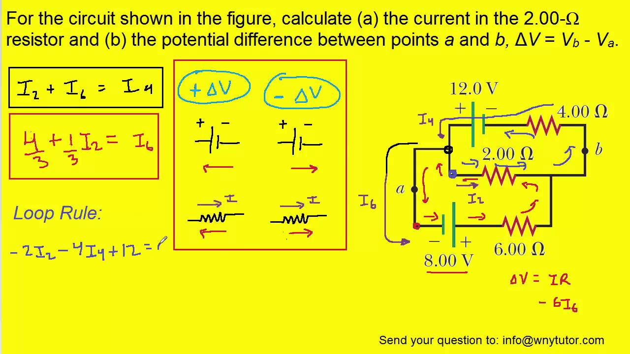 for the circuit shown in the figure calculate a the current in the 2 00 resistor and b the po [ 1280 x 720 Pixel ]