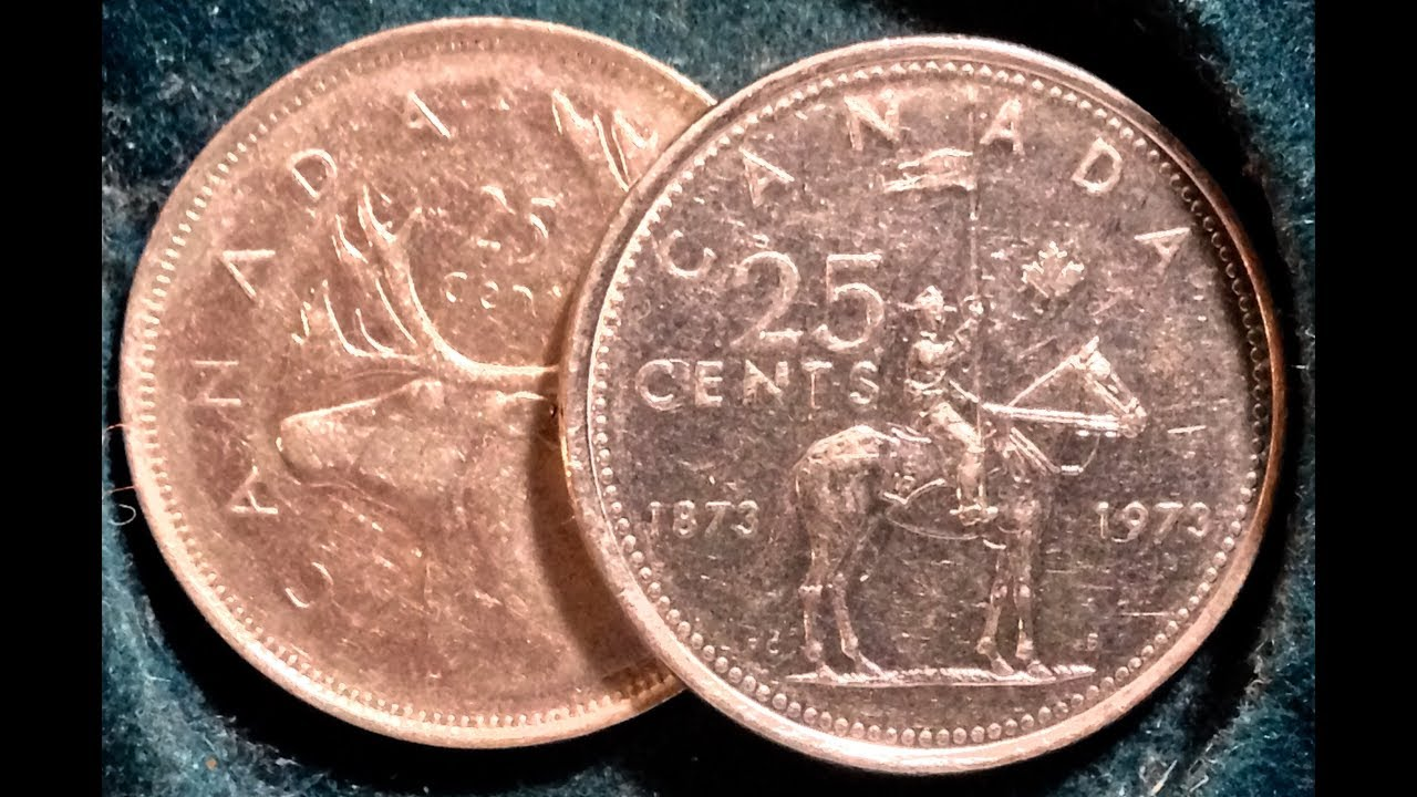1968 Quarter (50% Silver) and 1973 Quarter (Commemorative Issue) Coins Of  Canada