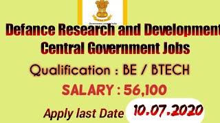 DRDO RAC recruitment 2020: central Government Job Online mode