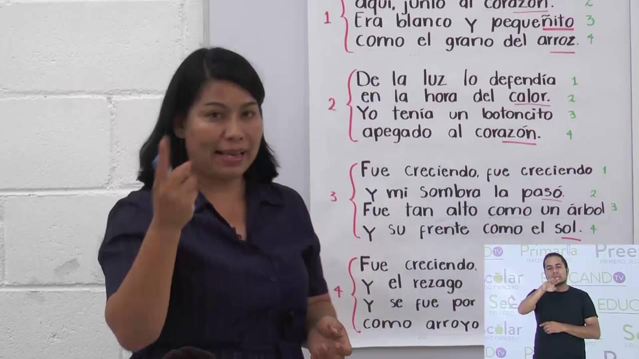 Primaria 3º Y 4º Clase 38 Tema Estructura De Un Poema