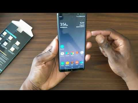 Glass feel Plastic Screen protector for the Samsung Galaxy Note 8