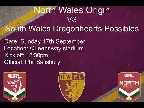 North Wales origin v South Wales Dragonhearts