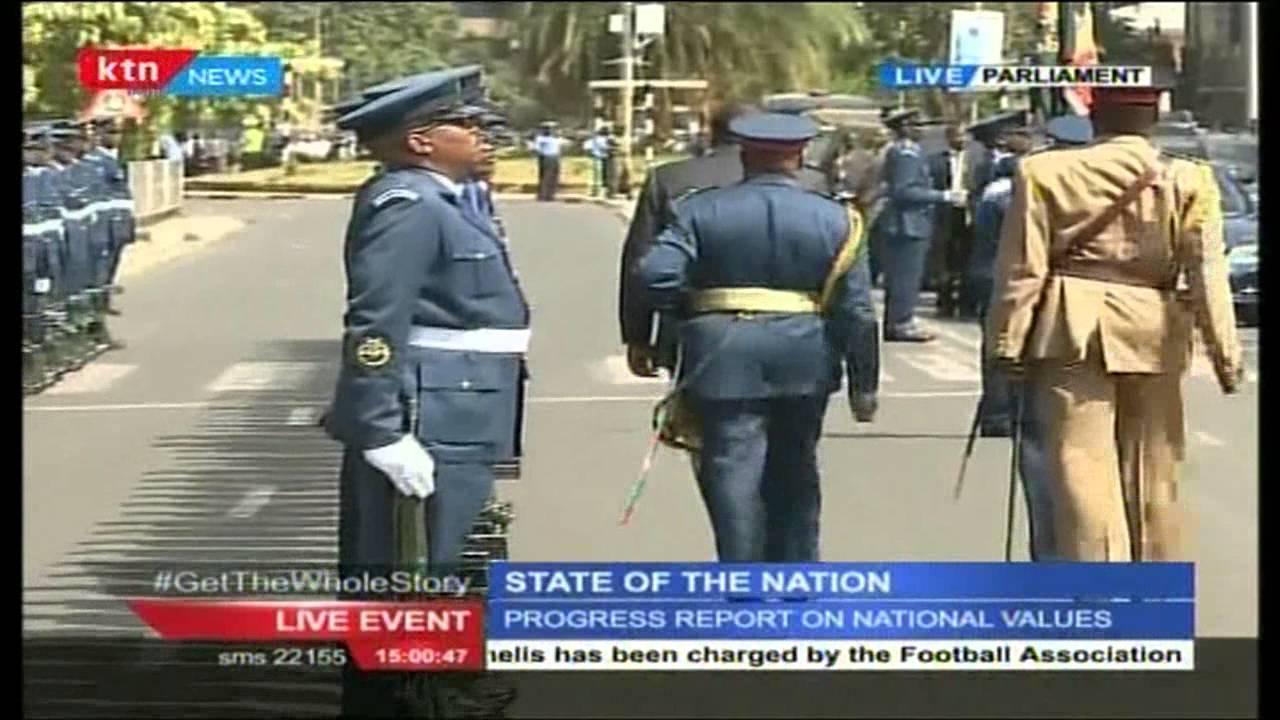 President Uhuru Kenyatta's happy moment before things started falling apart in the parliament