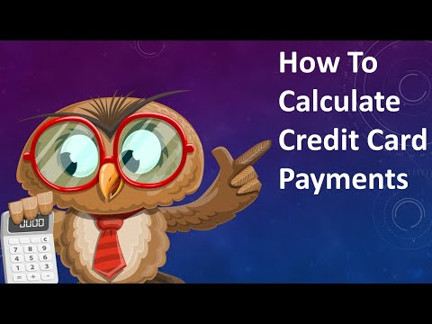 How To Calculate Your Monthly Credit Card Payment