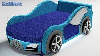 Детская модульная мягкая мебель. Детский диван кровать-машина Велюр. Интернет-магазин