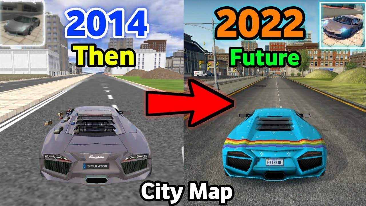 Download Evolution Of City Map In Extreme Car Driving Simulator (2014 - 2022)