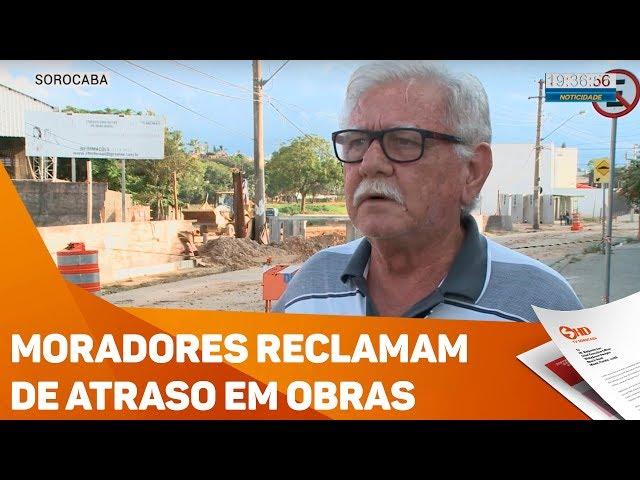 Moradores reclamam de atraso em obras - TV SOROCABA/SBT