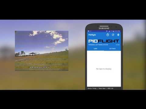 PIDflight Lap Timing System (VTx) - Android app testing - Drone Racing