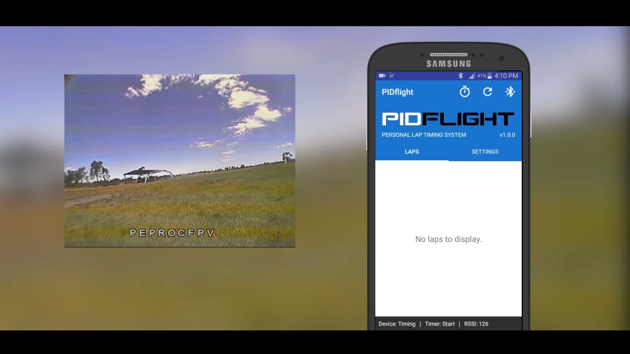 PIDflight Lap Timing System (VTx) - Android app testing - Drone Racing by  Christian Mengler