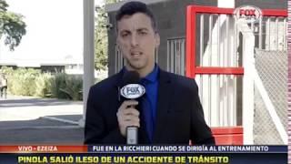 JAVIER PINOLA - Protagonizó un accidente automovilístico