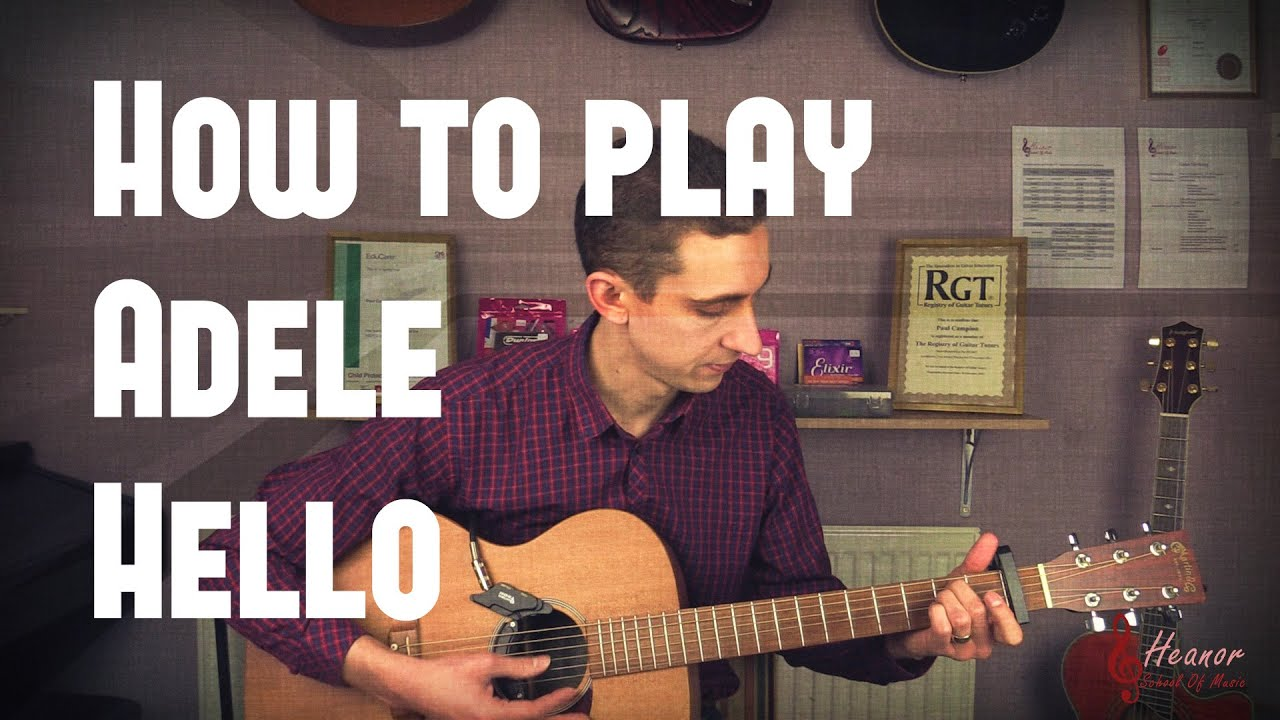 how to play hello on guitar