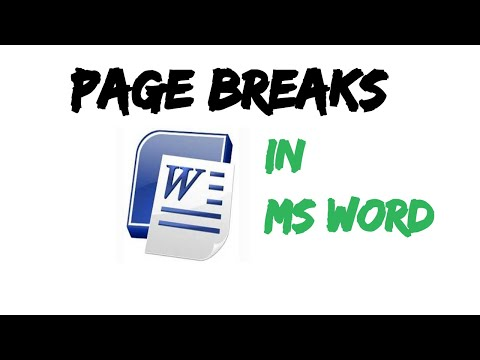 Page Breaks And It's Types Ms Word MSoffice